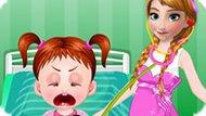 Игра Холодное сердце: Анна лечит малыша