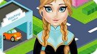 Игра Холодное сердце: Анна моет машины