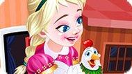 Игра Холодное сердце: Анна на птицеферме