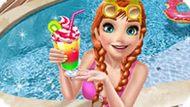 Игра Холодное сердце: Анна отдыхает в бассейне