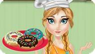 Игра Холодное сердце: Анна печет пончики