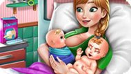 Игра Холодное сердце: Анна рожает близнецов