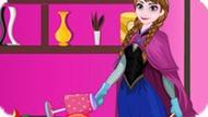 Игра Холодное сердце: Анна убирает в библиотеке