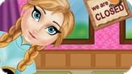 Игра Холодное сердце: Анна убирает в кафе