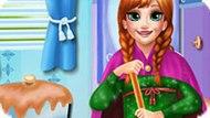 Игра Холодное сердце: Анна убирает в ванной комнате
