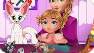 Игра Холодное сердце: Анна учит малышку