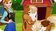 Игра Холодное сердце: Анна ухаживает за лошадью