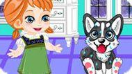 Игра Холодное сердце: Анна ухаживает за щенком