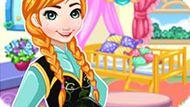 Игра Холодное сердце: Анна украшает детскую
