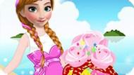 Игра Холодное сердце: Анна украшает мороженое