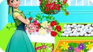 Игра Холодное сердце: Анна украшает сад