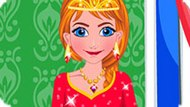Игра Холодное сердце: Анна в парикмахерской 2