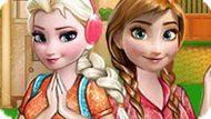 Игра Холодное сердце: Барбекю Эльзы и Анны