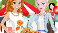 Игра Холодное сердце: Барбекю вечеринка Эльзы и Анны