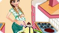 Игра Холодное сердце: Беременная Анна готовит мороженое