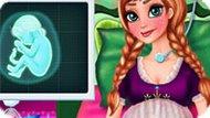 Игра Холодное сердце: Беременная Анна рожает