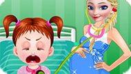 Игра Холодное сердце: Беременная Эльза детский врач