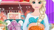 Игра Холодное сердце: Беременная Эльза готовит бургер