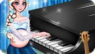 Игра Холодное сердце: Беременная Эльза играет на фортепиано