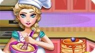 Игра Холодное сердце: Беременная Эльза печет блины