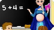 Игра Холодное сердце: Беременная Эльза учитель в школе
