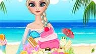 Игра Холодное сердце: Беременная Эльза украшает мороженое