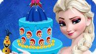 Игра Холодное сердце: Декор торта для Эльзы