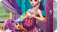 Игра Холодное сердце: День с беременной Эльзой