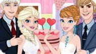 Игра Холодное сердце: День свадьбы Эльзы и Анны