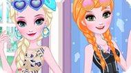 Игра Холодное сердце: Дизайн очков для Эльзы и Анны