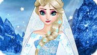Игра Холодное сердце: Дизайн свадебного платья Эльзы