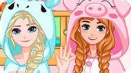 Игра Холодное сердце: Двухъярусная кровать для Эльзы и Анны