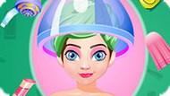 Игра Холодное сердце: Элегантная прическа Анны