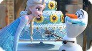 Игра Холодное сердце: Эльза, Олаф и торт
