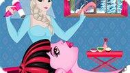 Игра Холодное сердце: Эльза делает прическу Дракулауре