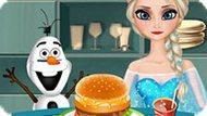 Игра Холодное сердце: Эльза готовит бургер
