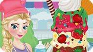 Игра Холодное сердце: Эльза готовит домашнее мороженое