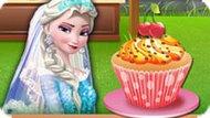 Игра Холодное сердце: Эльза готовит кекс