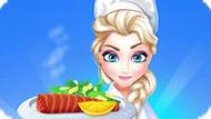 Игра Холодное сердце: Эльза готовит лосось