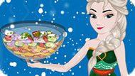 Игра Холодное сердце: Эльза готовит овощной салат