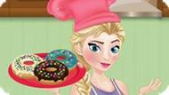 Игра Холодное сердце: Эльза готовит пончики