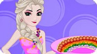Игра Холодное сердце: Эльза готовит радужную пиццу