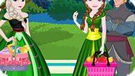 Игра Холодное сердце: Эльза и Анна едут на пикник