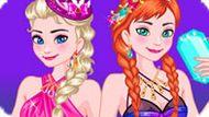 Игра Холодное сердце: Эльза и Анна идут в ночной клуб