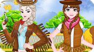 Игра Холодное сердце: Эльза и Анна ковбои