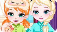 Игра Холодное сердце: Эльза и Анна ложатся спать
