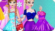 Игра Холодное сердце: Эльза и Анна модные соперницы
