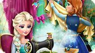 Игра Холодное сердце: Эльза и Анна модные соперники 2