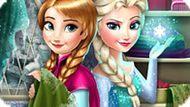 Игра Холодное сердце: Эльза и Анна модные соперники