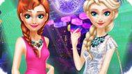 Игра Холодное сердце: Эльза и Анна на дискотеке